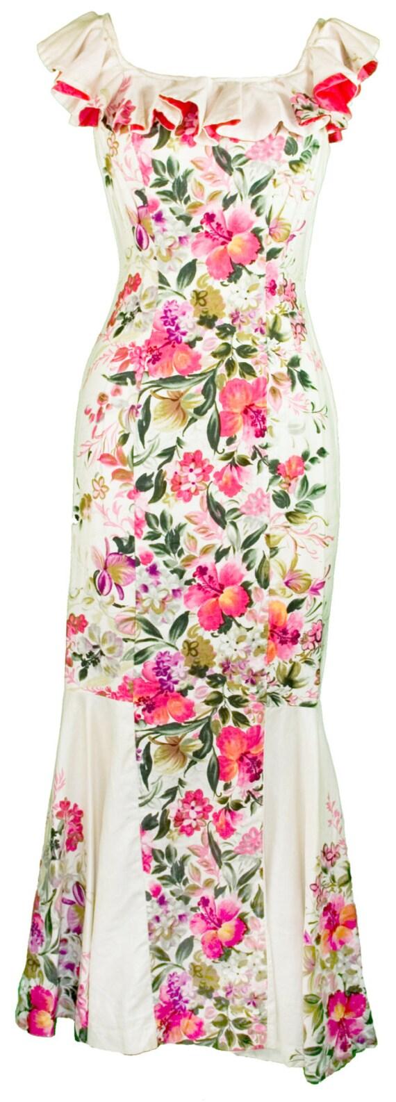 reserve hawaiian cha cha dress ruffled floral