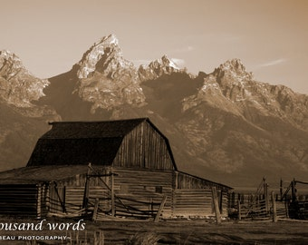 Moulton Barn (Sepia) ~ Grand Teton National Park - photographic print