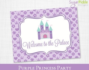 Birthday Welcome Sign, Princess Welcome Sign printable, Welcome Sign, Princess Party Printable, Princess Party Decorations