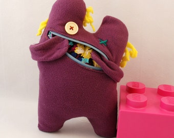 Purple plush monster Cute monster softie