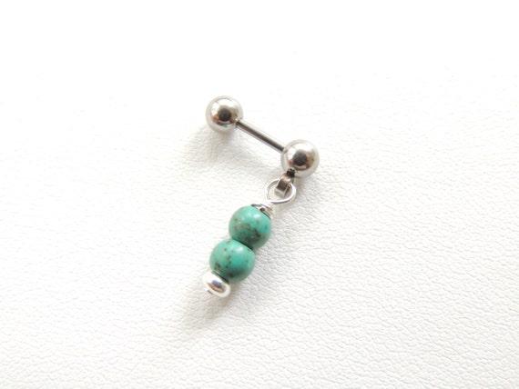 turquoise tragus piercing cartilage piercing boucle. Black Bedroom Furniture Sets. Home Design Ideas