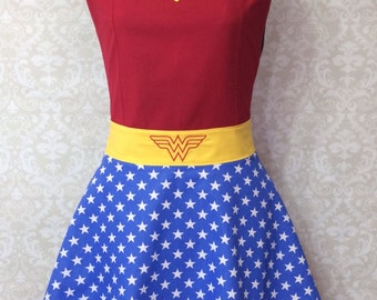 Wonder Woman Inspired Ruffled Apron