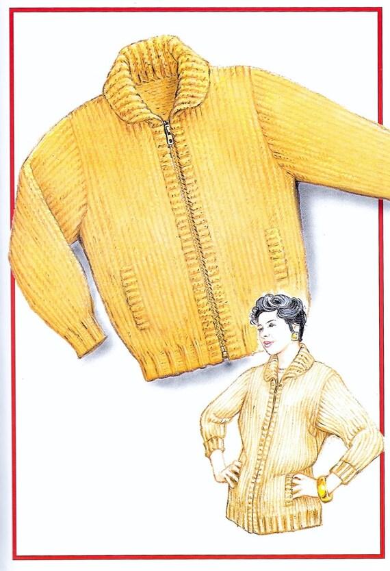 Knitting Pattern Basic Cardigan : Chunky Cardigan Knitting Pattern Basic Chunky Cardigan PDF