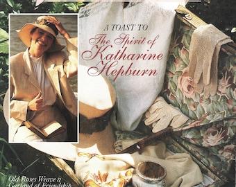 Victoria Magazine, Vintage.  A Toast To The Spirit of Katharine Hepburn, August 1991