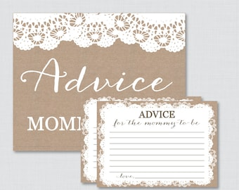 Selective image intended for mommy advice cards printable