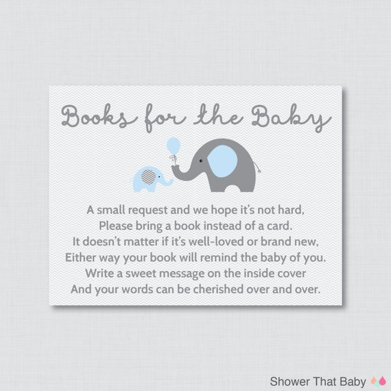 Transformative image in bring a book instead of a card printable
