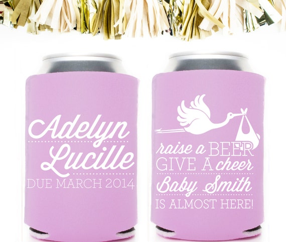 Baby Shower Koozie Favors ~ Personalized and custom baby shower koozies by