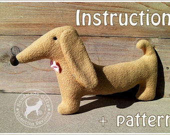 Sewing pattern toy dachshund/ Soft,safe toy for a child/Simple and easy to sew/ PDF Pattern Toy dachshund/Plush dog Instant Download/pattern