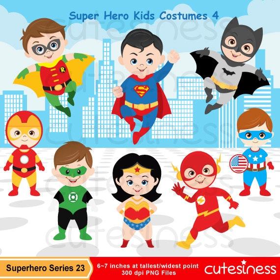 Superhero Digital Clipart Superhero Clipart