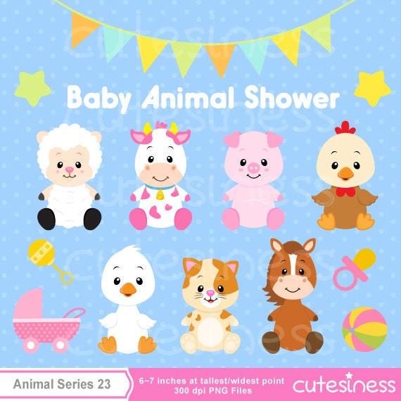 Items similar to Baby Animal Clipart , Baby Farm Animals ...