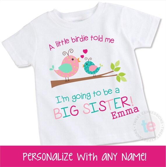 Big sister shirt big sister announcement shirt big by for Big sister birth announcement shirts