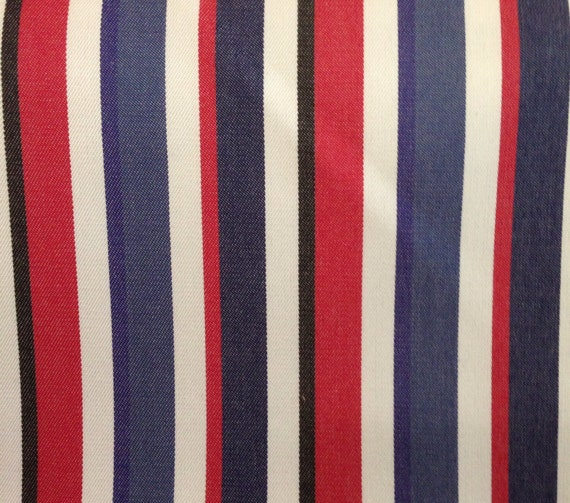 items similar to red white blue and black stripe upholstery fabric fabric by the yard on etsy. Black Bedroom Furniture Sets. Home Design Ideas