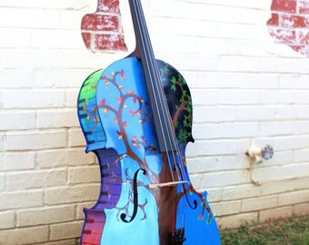 Custom Painted Cello--Any design you can think of, hand-painted onto a playable cello!