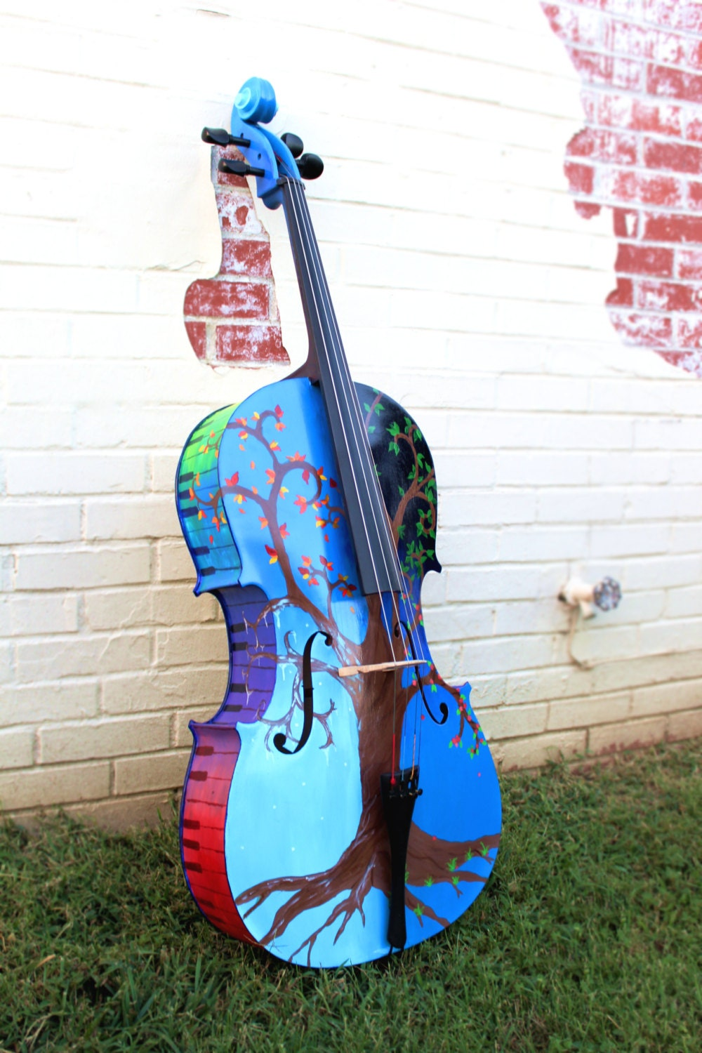Violin christmas ornaments - Custom Painted Cello Any Design You Can Think Of Hand Painted Onto