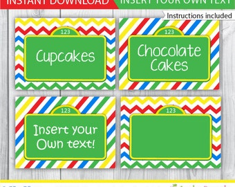 Elmo food labels / Elmo table tents / Sesame street food labels / Sesame street table tent / Sesame street buffet card / INSTANT DOWNLOAD