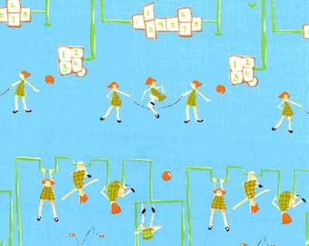 Heather Ross - Munki Munki Fabric - Hopscotch Playground Schoolyard - Out Of Print OOP VHTF