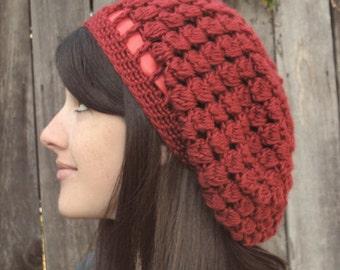 Crochet Pattern - Pinecone Slouchy Hat - PDF