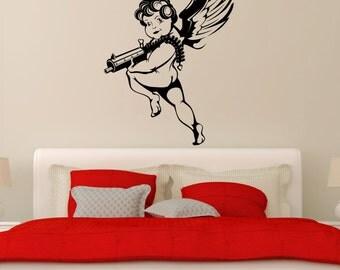 Wall Stickers Vinyl Decal Cupid Love Romantic Wedding Decor Bedroom (ig1773)
