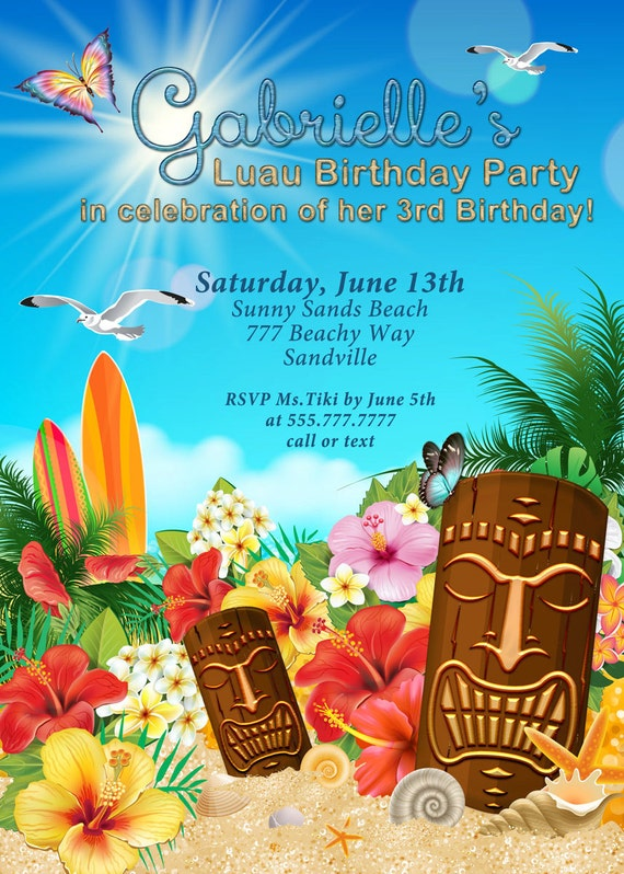 Hawaiian Themed Invitations is great invitations sample
