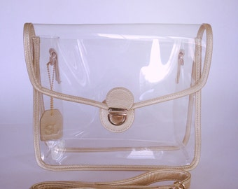 All Pro Clear Crossbody Bag by Sidelines. NFL Bag Policy Compliant.