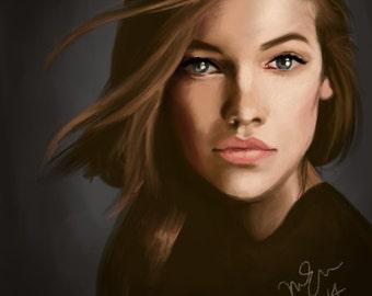 COMMISSION: Custom digital portrait, size A4 (210mm x 297mm)
