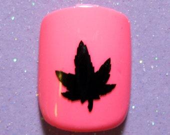Marijuana nail art   Etsy