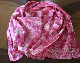 Batik- Hand Painted  100% silk  shawl.