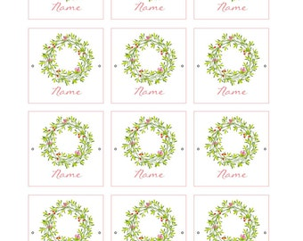 PRINTABLE Mother's Day/Spring Place Card Napkin Rings (Customizable)