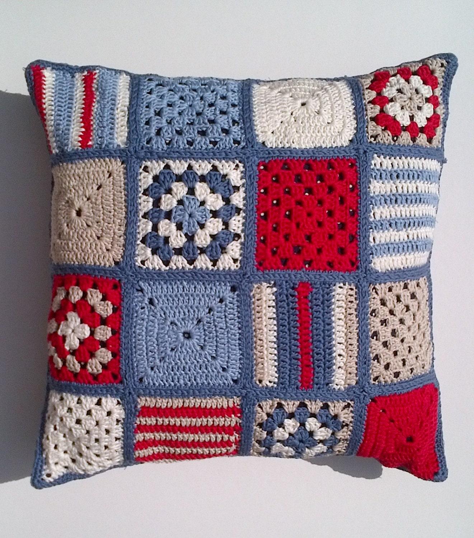 Sale Nautical Crochet Cushion Cover