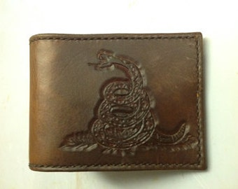 Leather wallet with credit card slots and bill pocket, Mens Custom Leather Wallet,