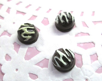 Chocolate Candy Kawaii Decoden Cabochons, Icecream Desserts, #243a