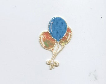 Balloons - Shimmery - Iron on Applique - Embroidered Patch - 695734A