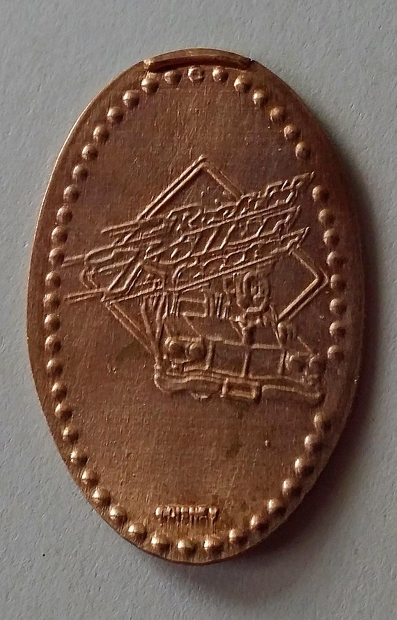 Rock n roller coaster pressed penny from disney world for Penny coasters