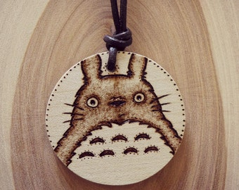 My Neighbor Totoro Wooden necklace