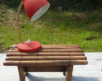 Beautiful little red vintage lamp, 29cm