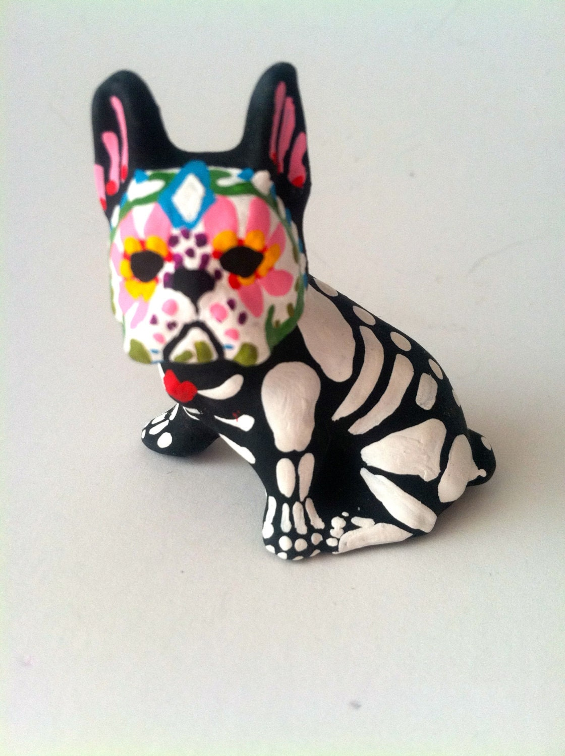 Day of the Dead French Bulldog Dog Sugar Skull pet memorial
