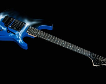 Buddy Blaze VC II -- 25th Anniversary Lightning Storm Shredder --  6 string electric guitar
