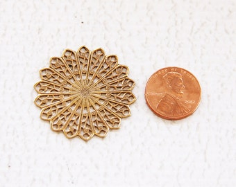 Mandala Psychedelic Nature Symbol and Rare Vintage Brass FInding to Embellish