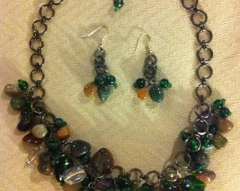 Green Glass Chocker Necklace