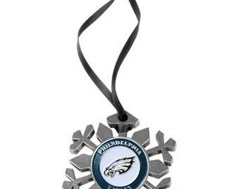 Philadelphia Eagles Snowflake Christmas Ornament