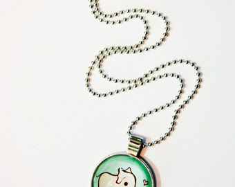 ELEPHANT NECKLACE, cute necklace for her, kawaii elephant gift, cute elephant jewelry, kids inspirational jewelry, you are loved necklace