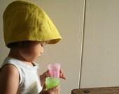 CHILDRENS SUMMER HAT / girls / boys / baby hat / organic / linen sun hat / linen cloche / eco friendly /made in australia by pamelatang