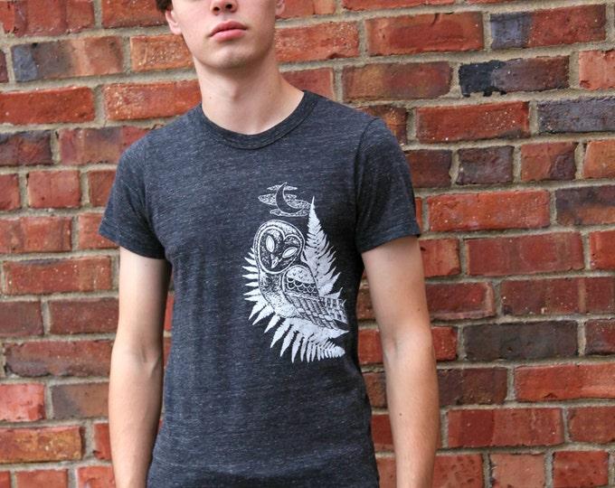 Camping Shirt, Plus Size Tshirt, Owl Shirt, Camping Tee, Owl Tee, Nature Shirt, Bird T Shirt, Adventure Shirt