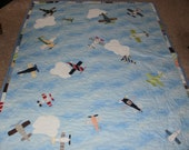 Baby clothes custom Airplane quilt