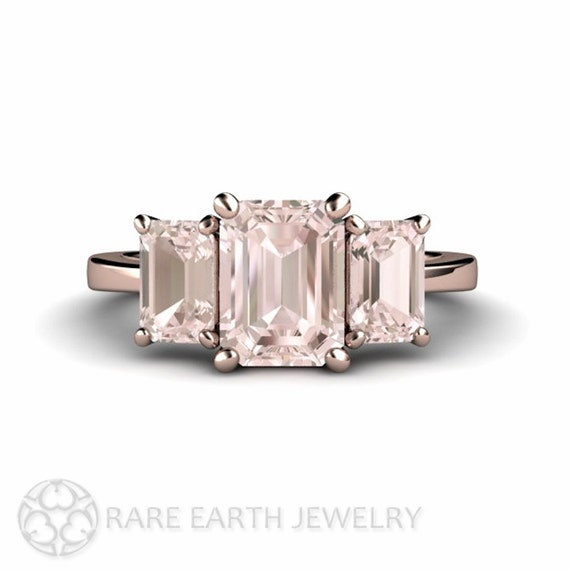 morganite engagement ring emerald morganite ring 3 by