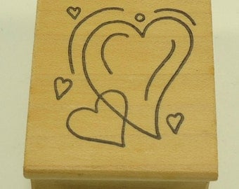Hearts Wood Mounted Rubber Stamp by Great Impressions #C186