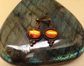 Vintage Amber Dangle Earrings