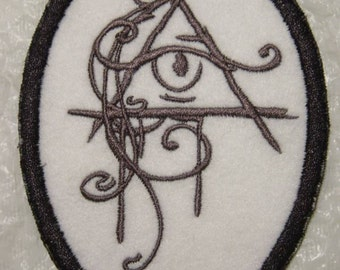 """EYE of PROVIDENCE Embroidered Iron-on or Sew on Patch Applique - 4.5""""  x 3.5"""""""