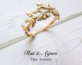 Wild Flower Ring (14K yellow gold)