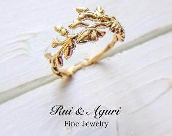 Wild Flower Ring (18K yellow gold)